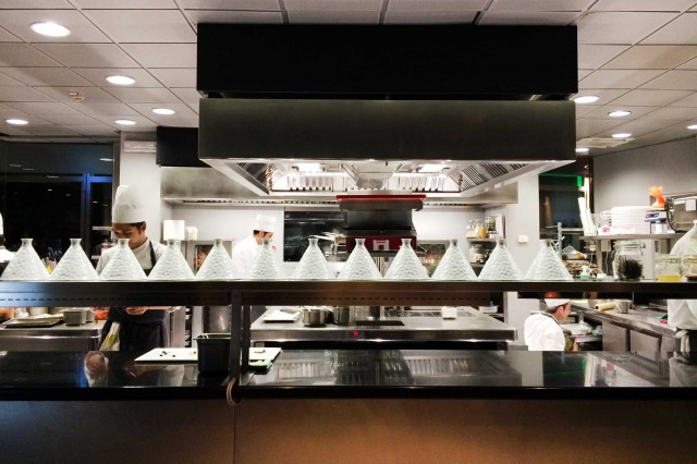 cucina a vista Unico Restaurant