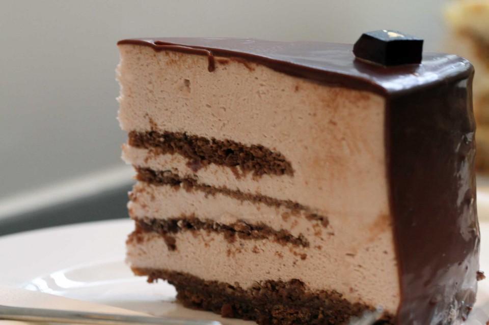 fetta cheesecake cioccolato