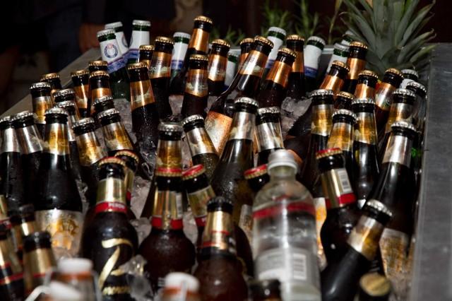 bottiglie birra ghiacciata