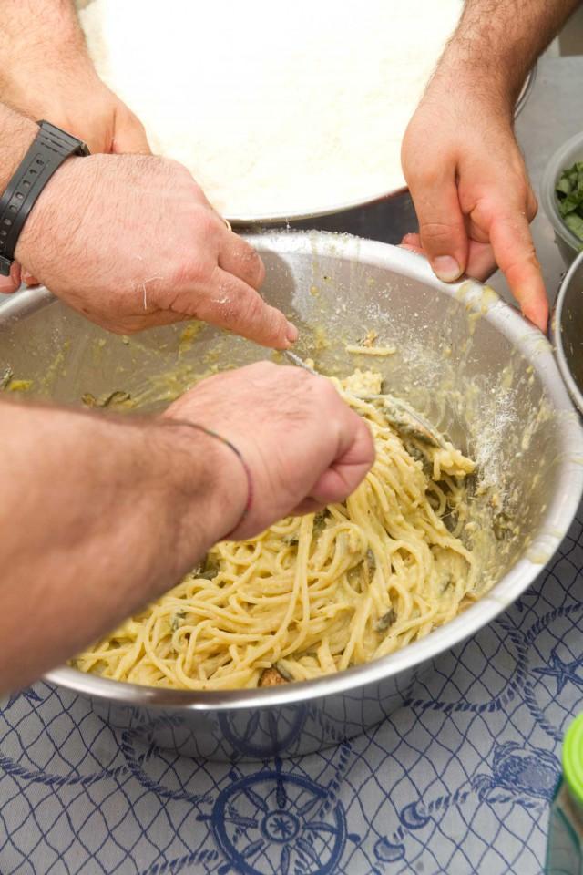 spaghetti alla Nerano Maria Grazia