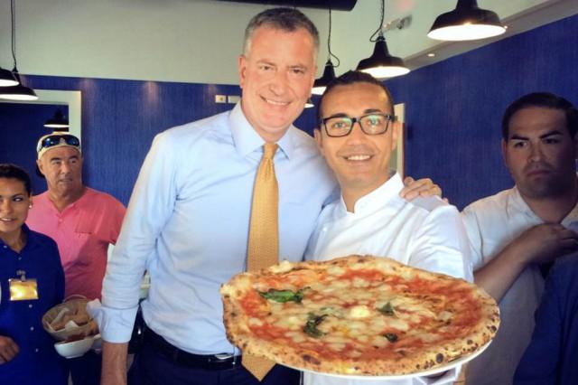 pizza De Blasio Sorbillo