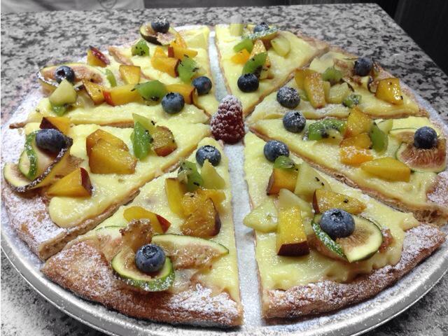 pizza chantilly frutta