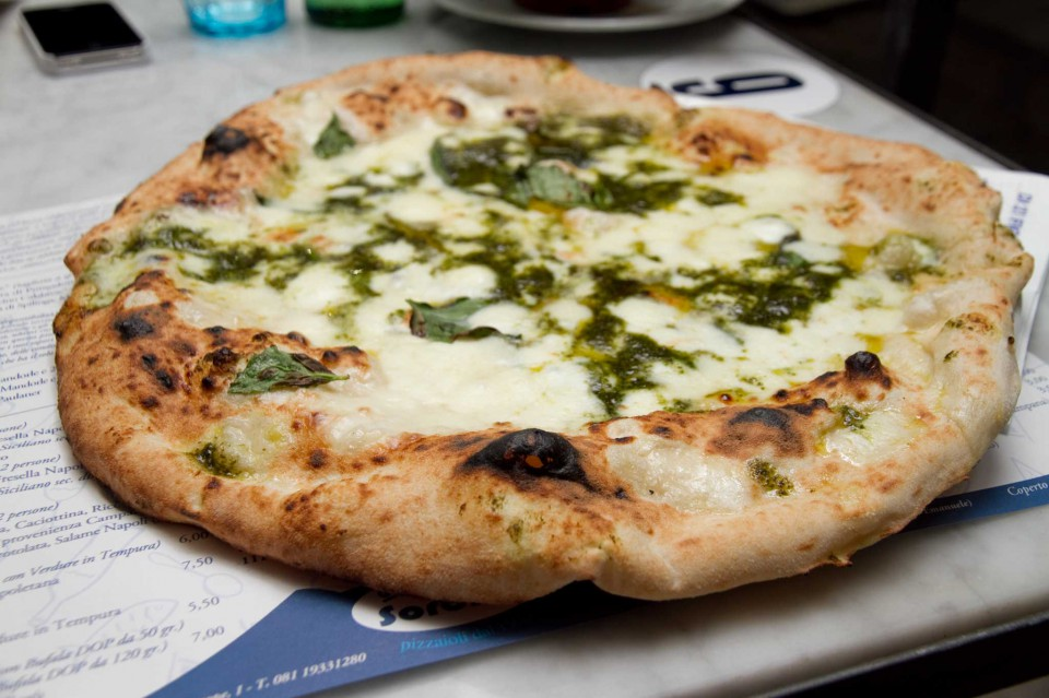 pizza pesto di basilico