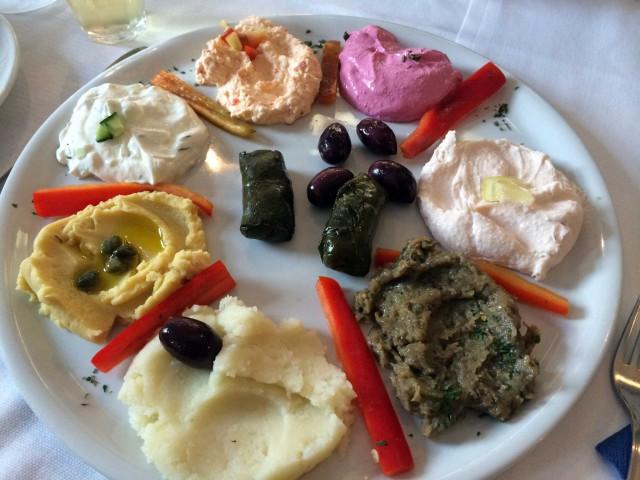 ristorante greco Mykons antipasto