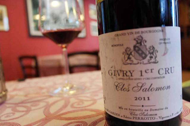 Pinot Noir Givry Premier Cru Clos Salomon 2011