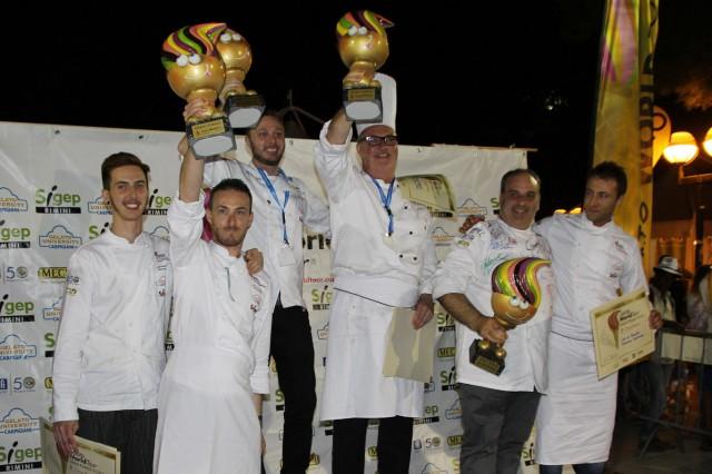 podio vincitori gelato world tour rimini