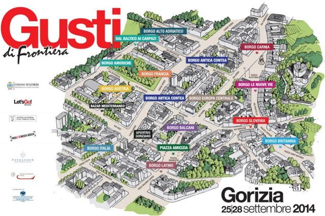 gusti di frontiera gorizia festival mappa 2014