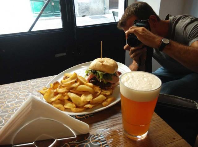 hamburger da fotografare