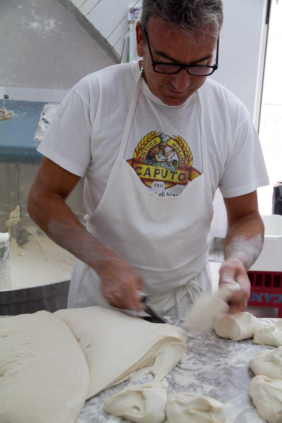 impasto pizza da Michele Napoli