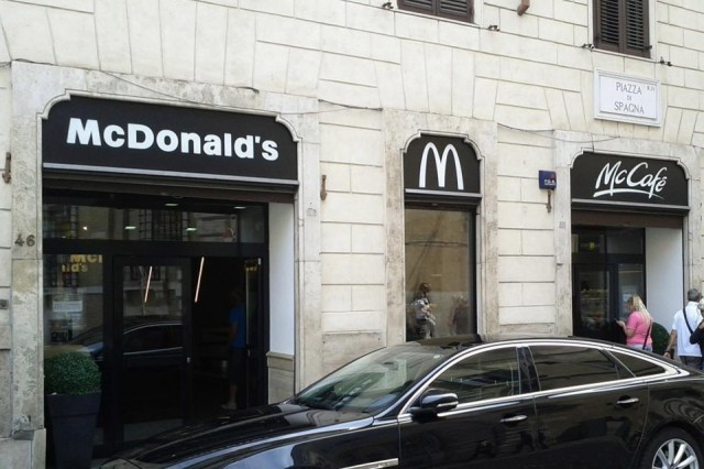 mc donalds roma piazza di spagna