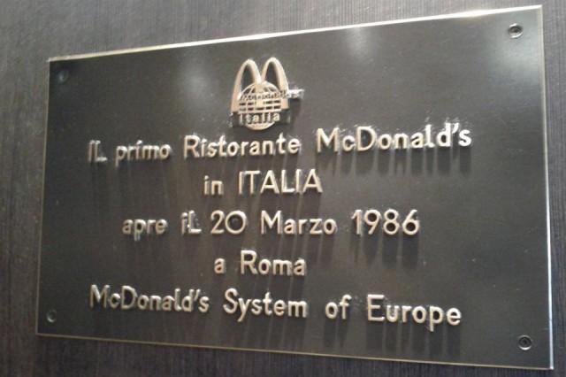 mc donald targa apertura roma