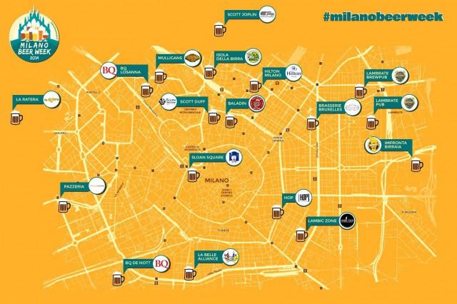 milano beer week mappa