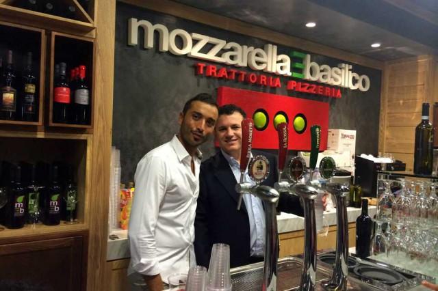 mozzarella basilico pizzeria