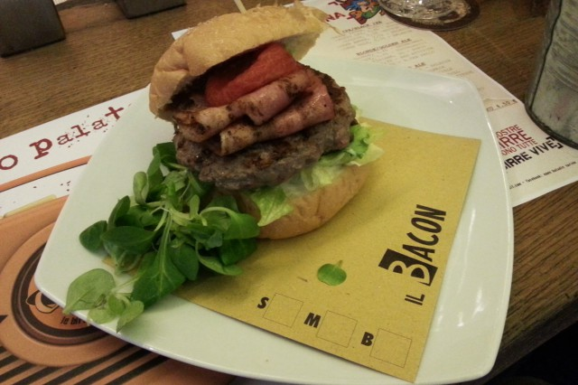 open baladin torino hamburger bacon