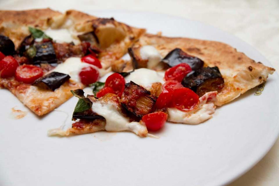 pizza melanzane funghetto