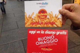 Torino. Oggi ve la diamo gratis, sottinteso la patatina. Ed è subito fila
