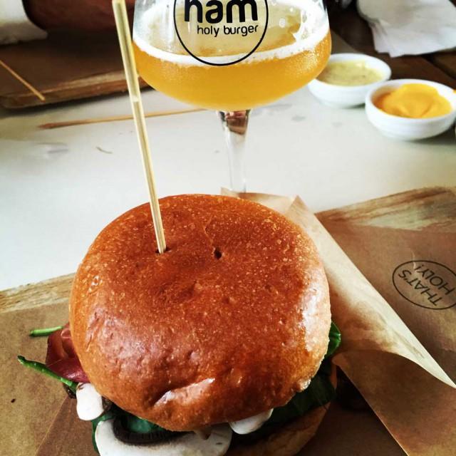 hamburger Ham Holy Burger