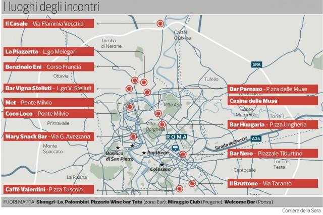 mappa mafia capitale Roma