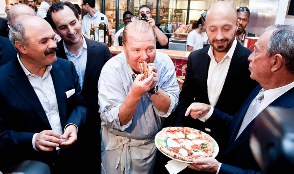 Farinetti Batali Bastianich Eataly New York pizza