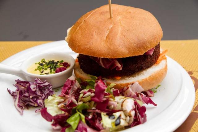 hamburger vegano falafel