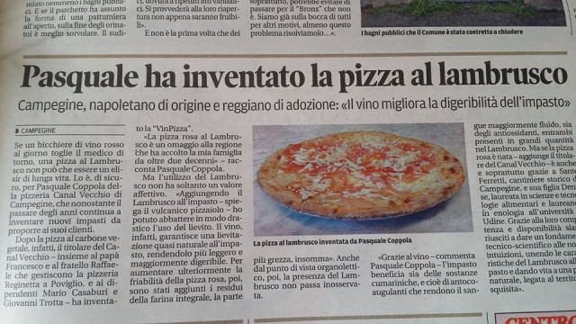 Pasquale Coppola pizza lambrusco