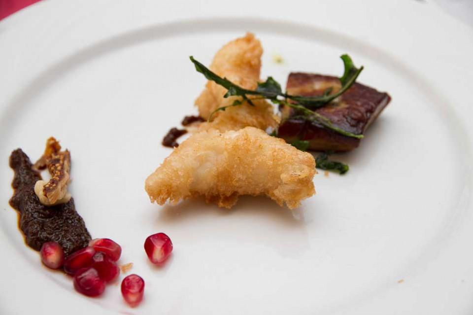 murena fritta e foie gras