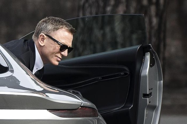 Daniel Craig sul set film James Bond 007 'Spectre' a Roma
