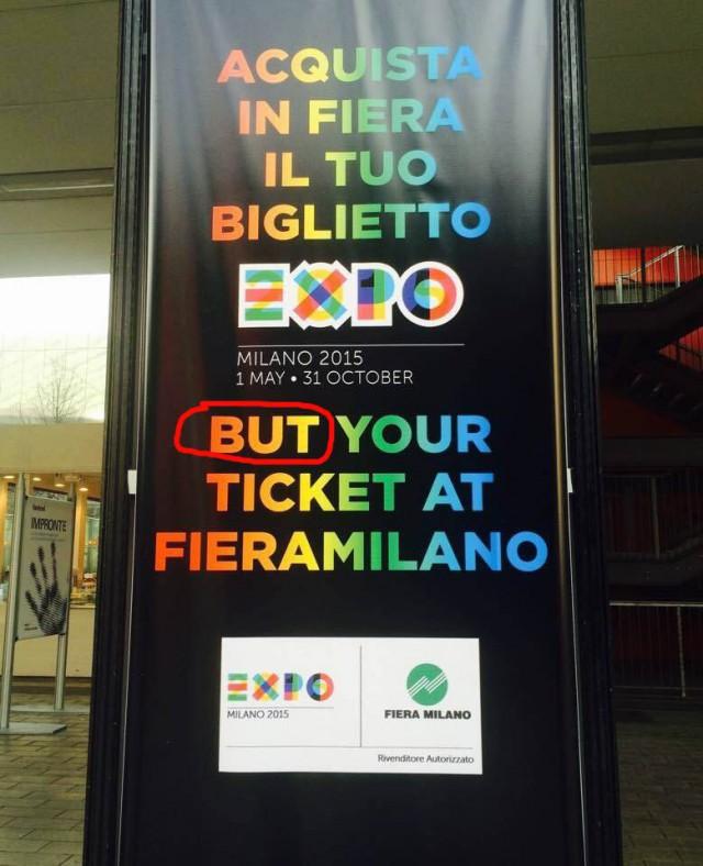 inglese sbagliato cartello Expo 2015