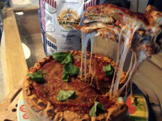 Lezioni di pizza. Deep-dish cioè la ricetta con la parmigiana di melanzane