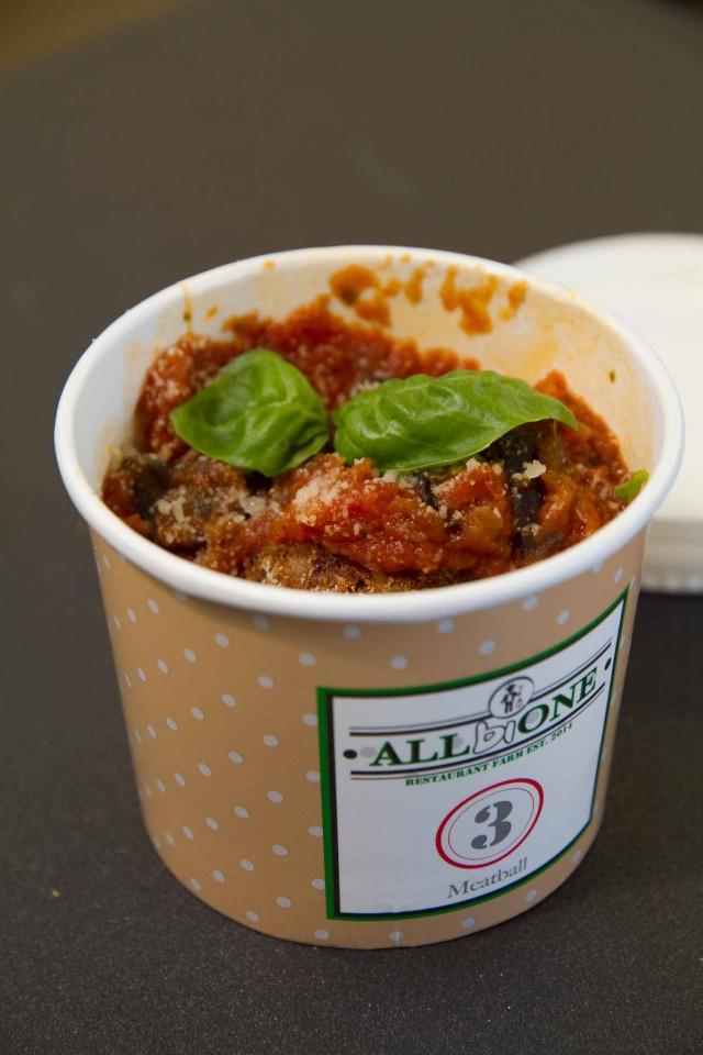 polpetta parmigiana melanzane