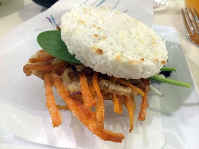 rice burger hamburger