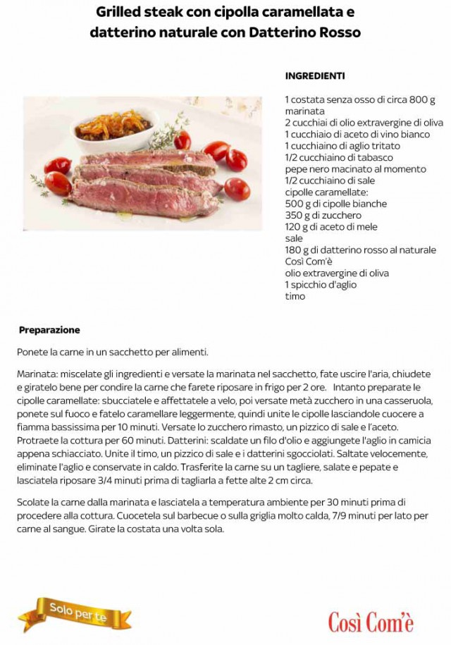 ricetta carne griglia
