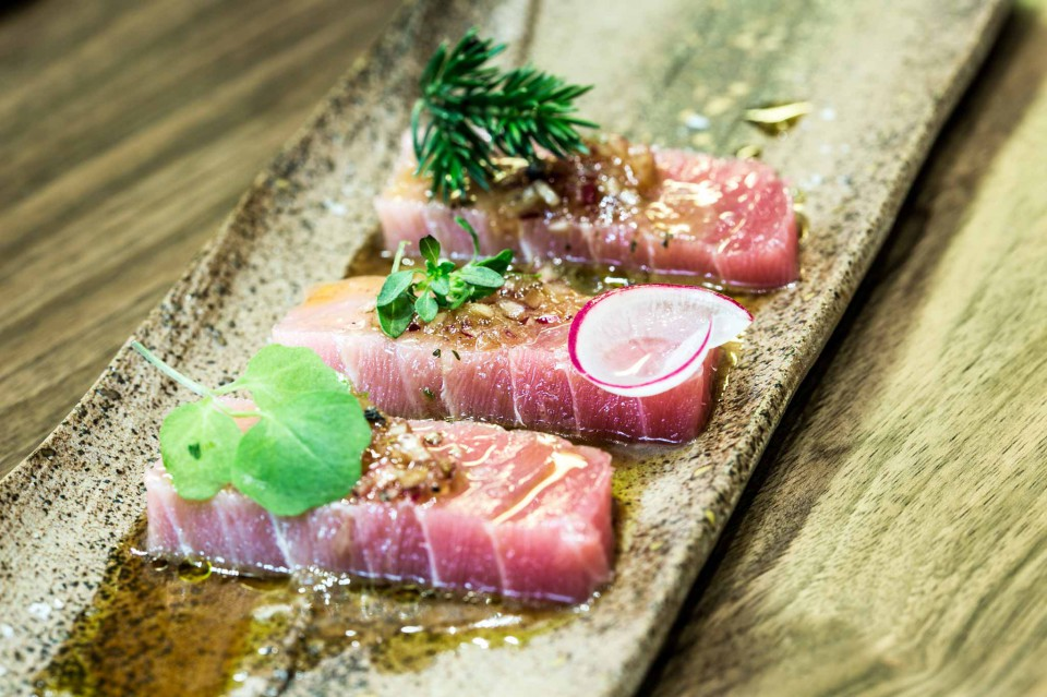 ventresca tonno salsa yuzu