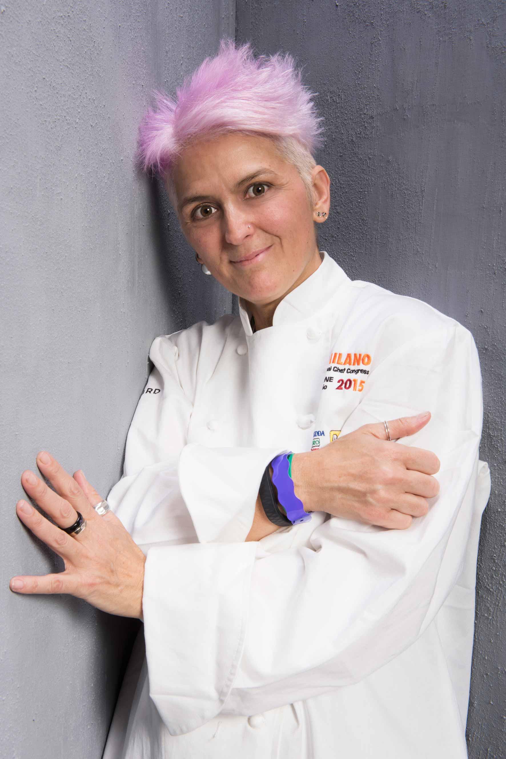 Cristina Bowerman chef del ristorante Glass Hostaria a Trastevere, una stella Michelin