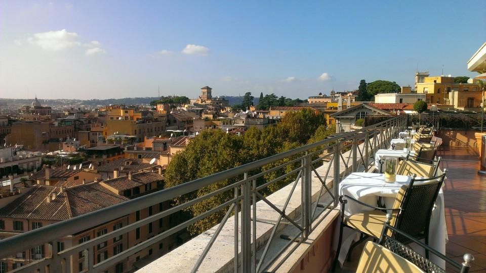 la terrazza del Giuda Ballerino al Bernini