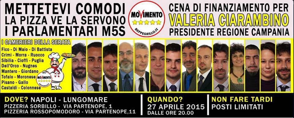 I deputati m5s servono la pizza da sorbillo e rossopomodoro for Parlamentari 5 stelle elenco