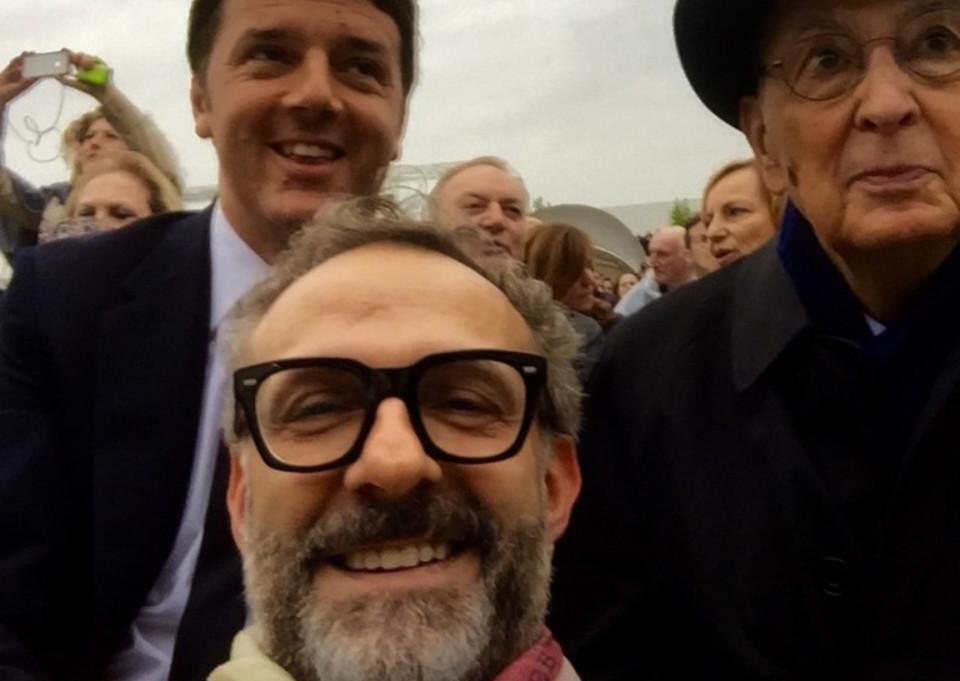 Expo 2015 Bottura Renzi presidenti