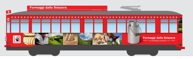 Expo 2015 Tram del gusto formaggi della svizzera