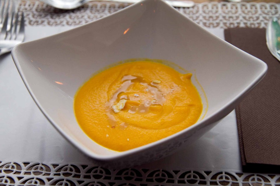 Minestra tiepida di carote, meringa e il mio garum (A. Dandini)