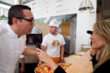 Expo 2015. Gino Sorbillo e Joe Bastianich con la pizza a Matrix