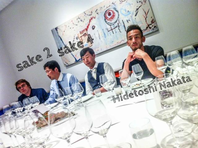 Nakata e il sake