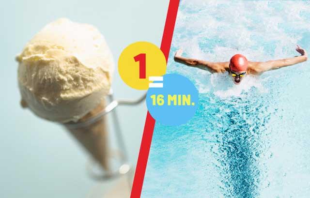 attività fisica per bruciare calorie gelato