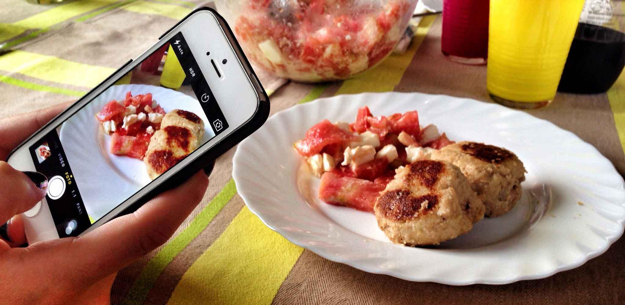 come fotografare il cibo con il cellulare