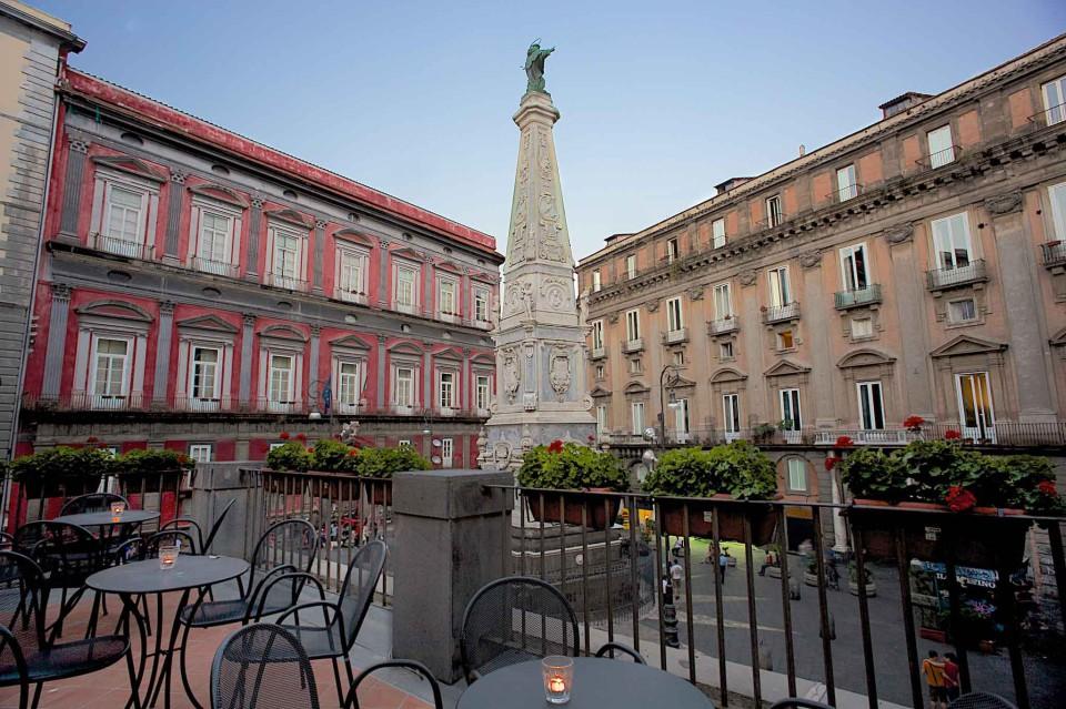 la terrazza di Palazzo Petrucci