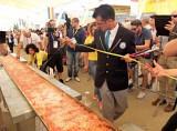 Pizza record a Expo: più lunga di 1,5 km