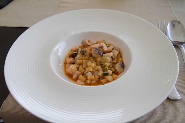 tubetti in zuppa di pesce
