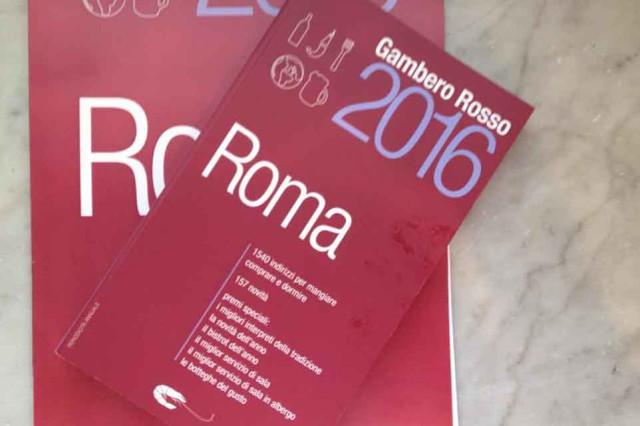 Gambero Rosso Roma guida 2016