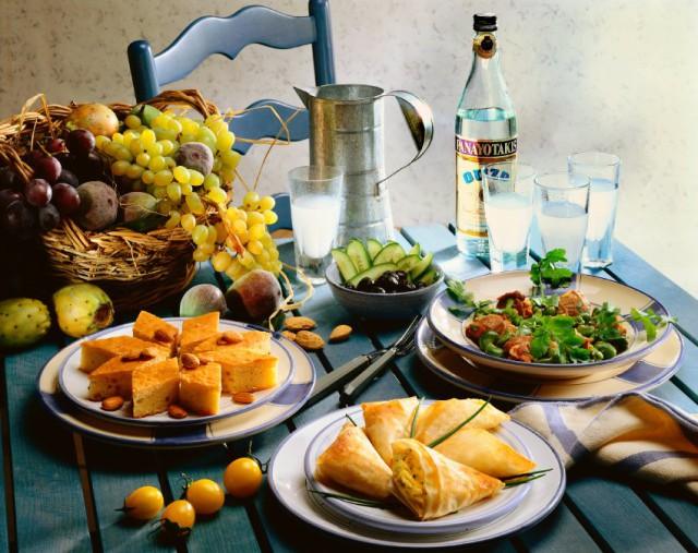 Laid Dish with Greek Meals