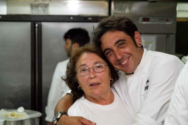 Michele Grande con la madre