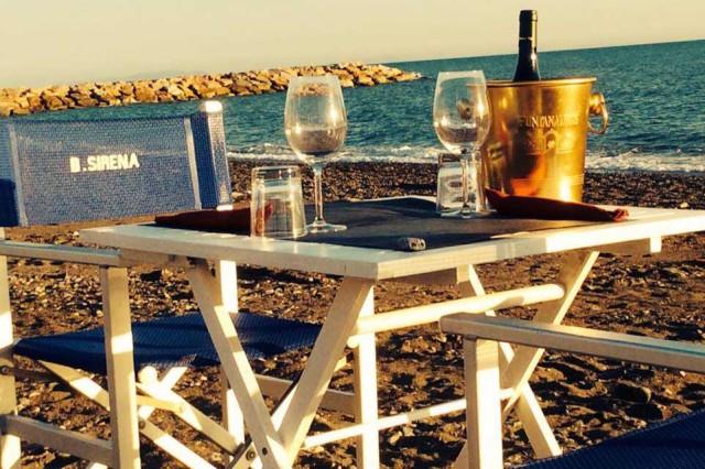 mangiare sulla spiaggia Bagni Sirena